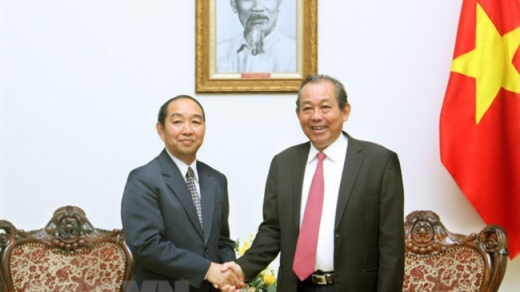 Deputy PM welcomes Chief Judge of Lao Supreme Court