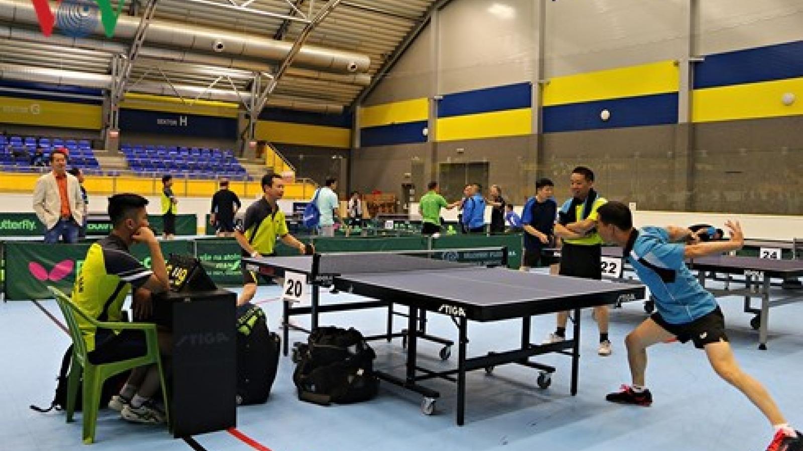 OVs host table tennis tourney in Czech Republic
