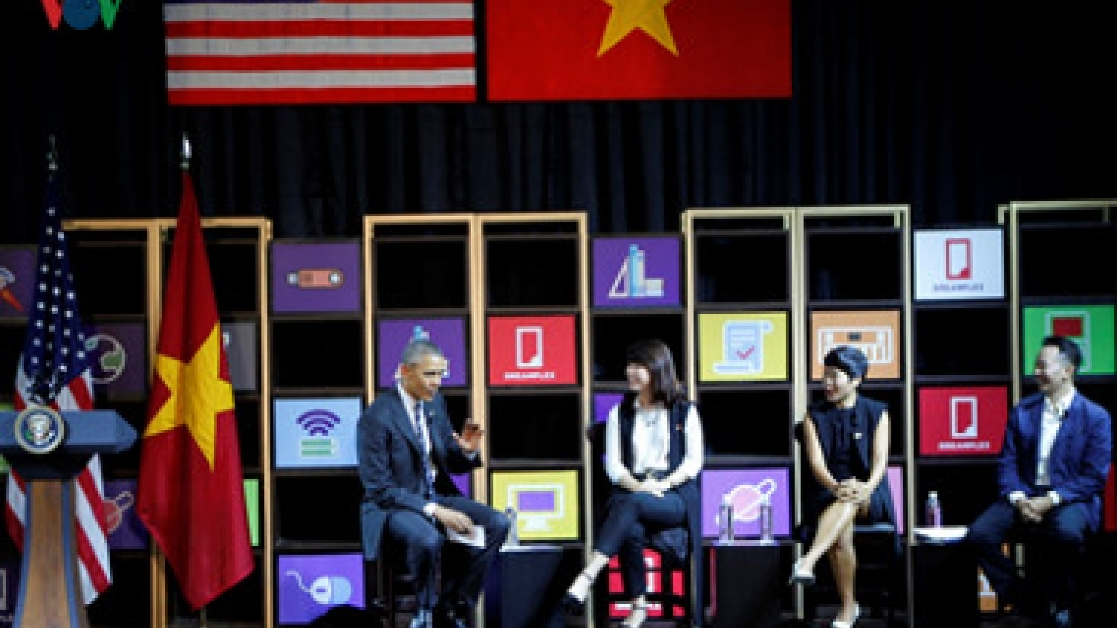 Obama talks about TPP, entrepreneurship