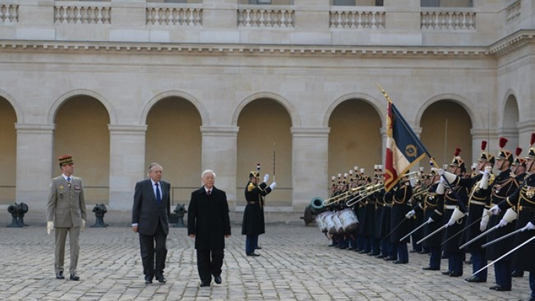Party chief Nguyen Phu Trong active in France