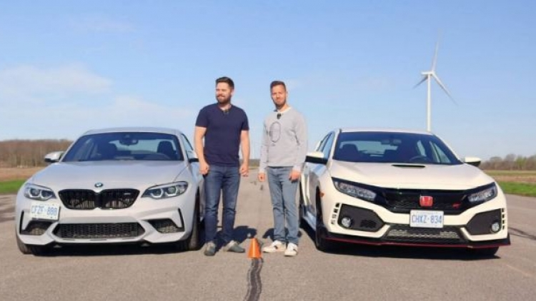 Video: Honda Civic Type R đọ sức BMW M2 Competition