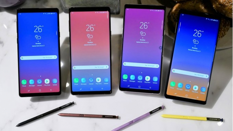 Samsung Galaxy Note 9 so găng cùng Note 8 và iPhone X