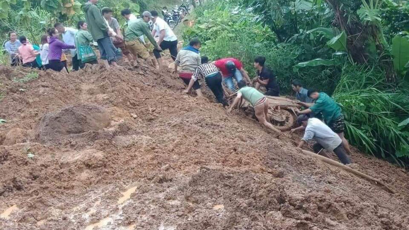Mưa lớn ở Lai Châu làm 1 người mất tích và 1 người bị thương