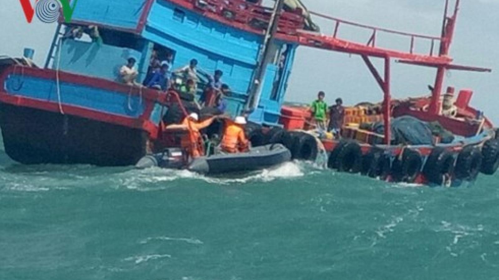 Xác định được tàu hàng đâm chìm tàu cá ngư dân rồi bỏ chạy