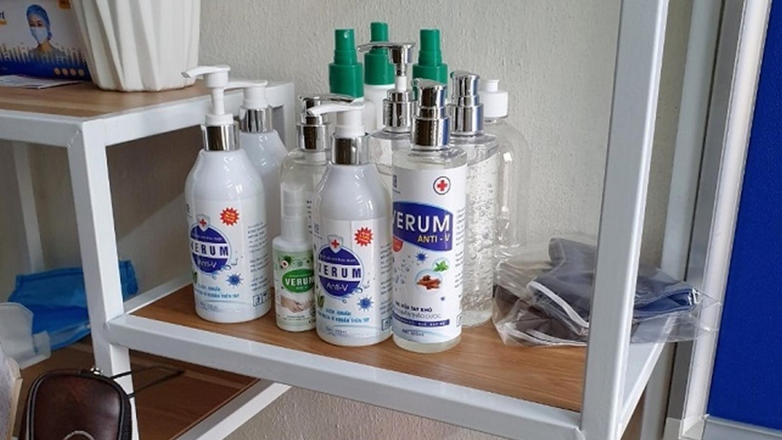 Công ty Minh Trí Hải Thịnh bị khởi tố vì sản xuất nước rửa tay sát khuẩn giả