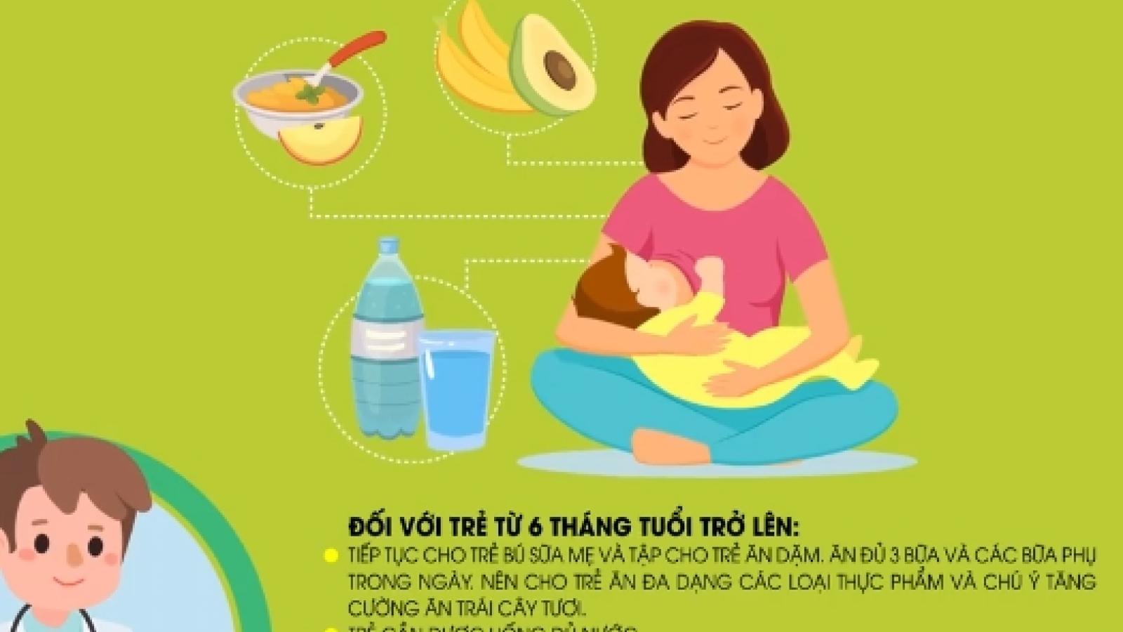 Lời khuyên dinh dưỡng cho trẻ dưới 2 tuổi trong mùa dịch Covid-19