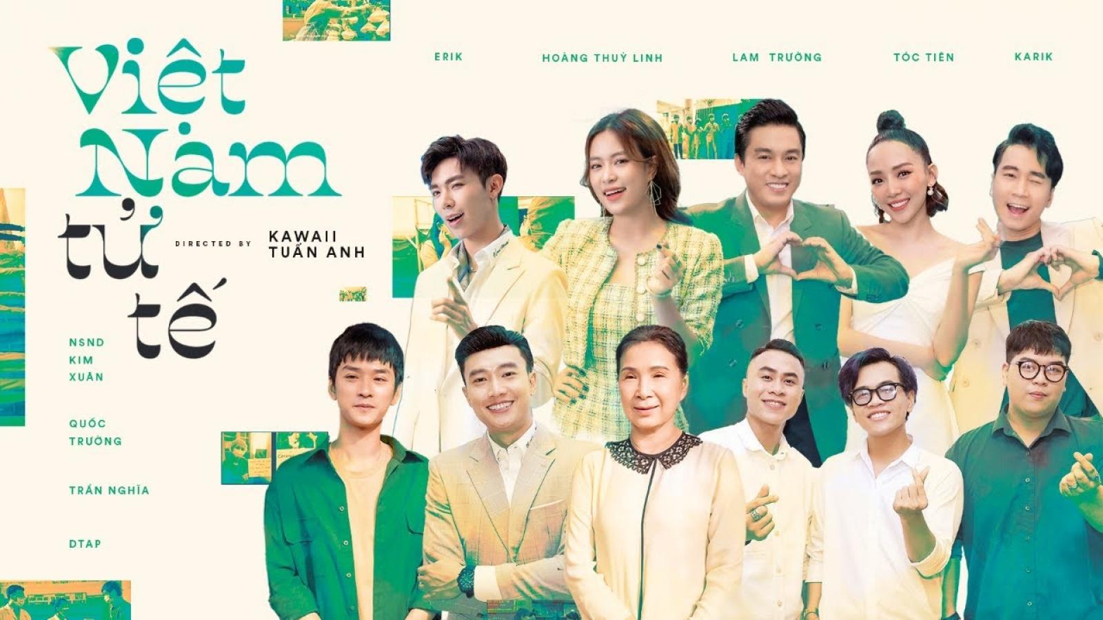 """Hoàng Thuỳ Linh, Tóc Tiên, Quốc Trường tham gia MV """"Việt Nam tử tế"""""""