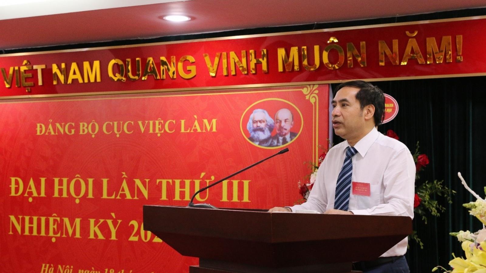 Cục Việc làm tổ chức Đại hội Đảng bộ lần thứ III, nhiệm kỳ 2020-2025