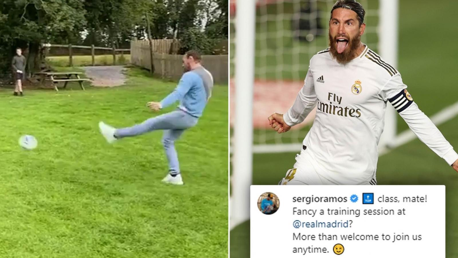 VIDEO: Conor McGregor trổ tài ghi bàn, gửi lời thách thức Sergio Ramos