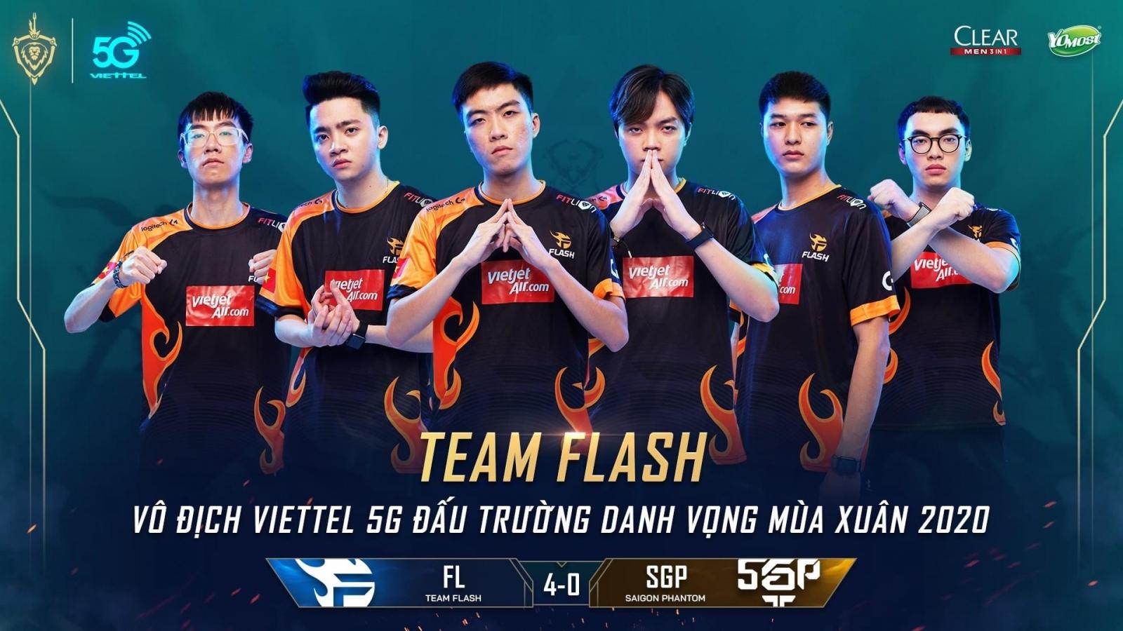 """""""Huỷ diệt"""" Saigon Phantom, Team Flash thống trị Đấu trường Danh vọng"""