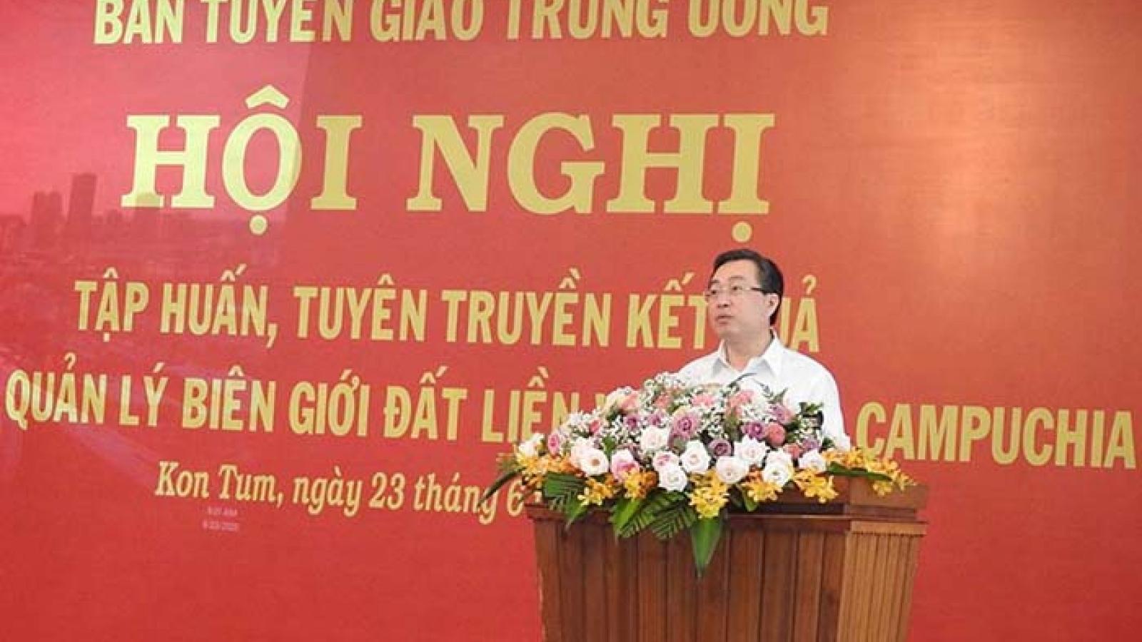Tuyên truyền kết quả quản lý biên giới Việt Nam- Campuchia