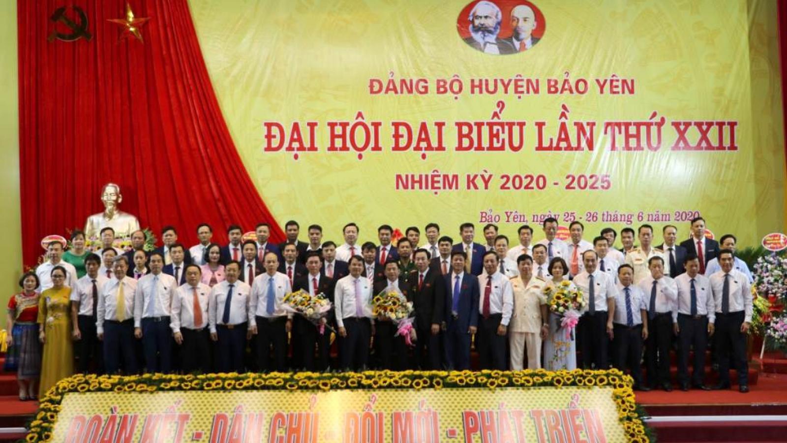 Huyện Bảo Yên (Lào Cai) có tân Bí thư Huyện ủy là người Tày