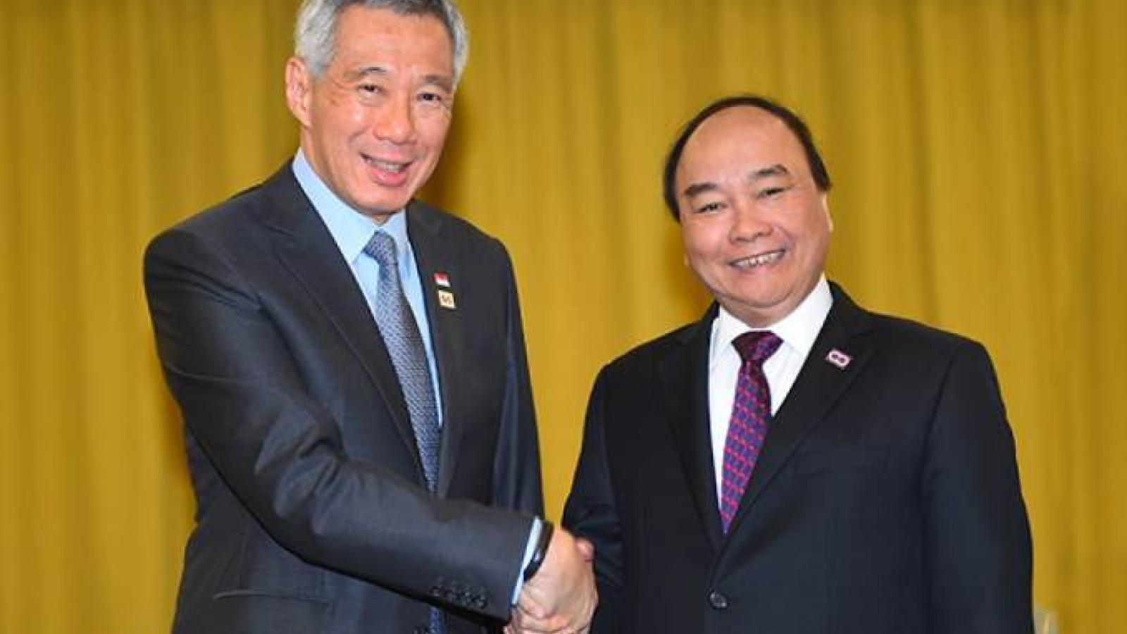Thủ tướng chúc mừng Singapore tổ chức thành công tổng tuyển cử