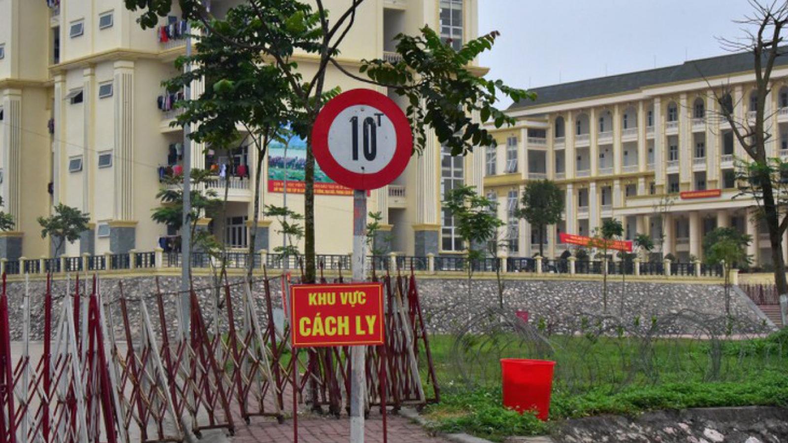 Gần 1.000 người từ Đà Nẵng, Quảng Nam về cách ly tại Trường Quân sự Thủ đô