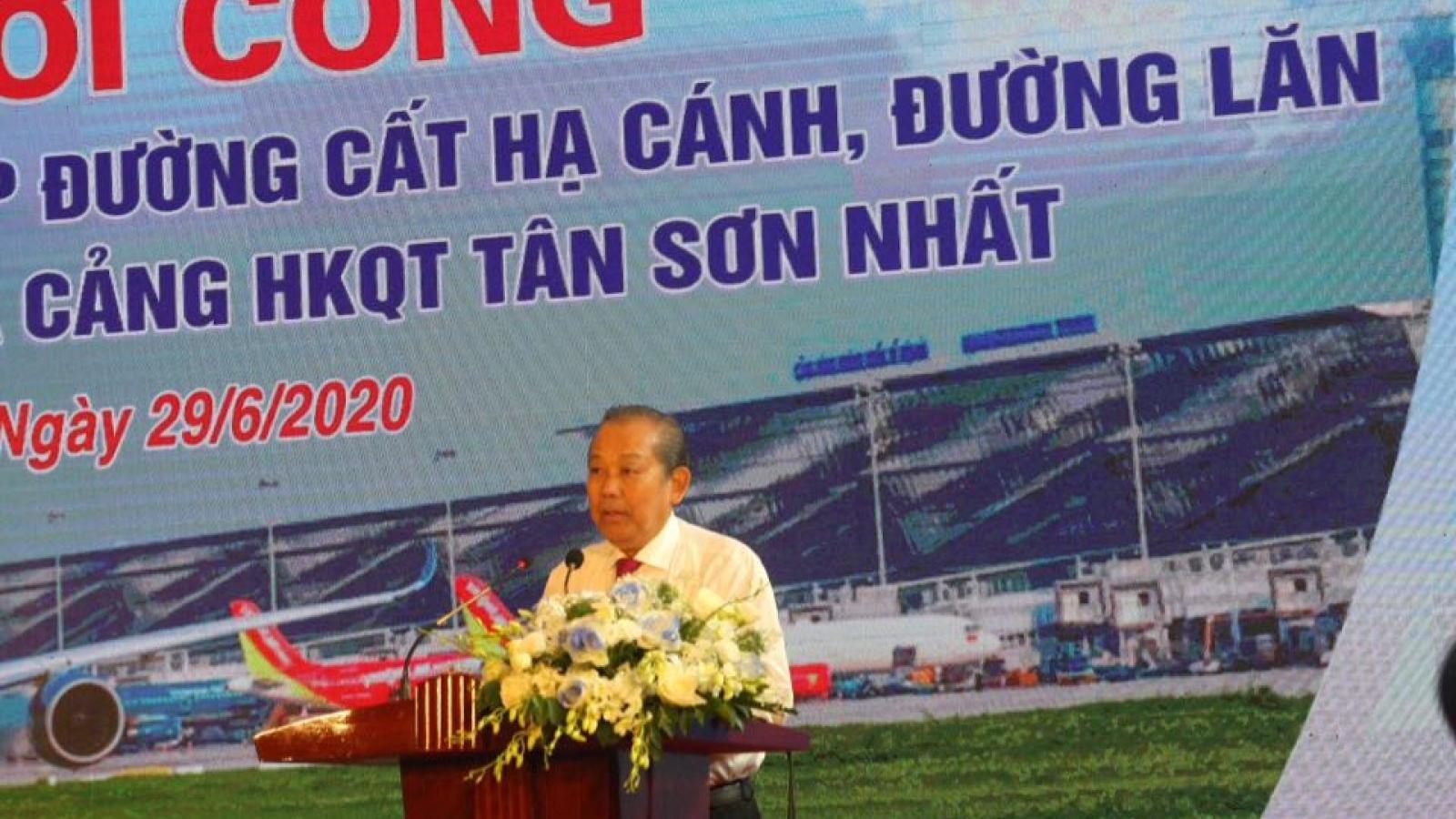 Phó Thủ tướng phát lệnh nâng cấp sân bay Nội Bài, Tân Sơn Nhất