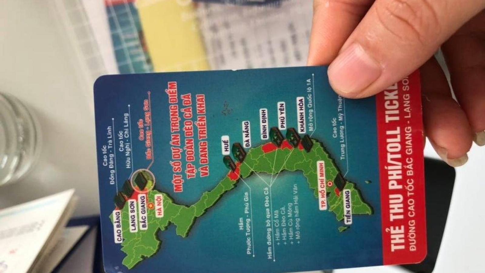 Thẻ thu phí cao tốc Bắc Giang-Lạng Sơn có hình Hoàng Sa và Trường Sa