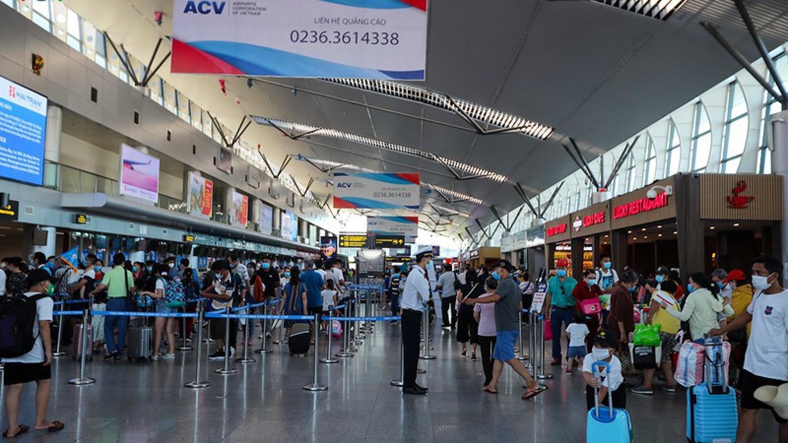 Sân bay Nội Bài, Tân Sơn Nhất lên phương án cách ly khách từ Đà Nẵng