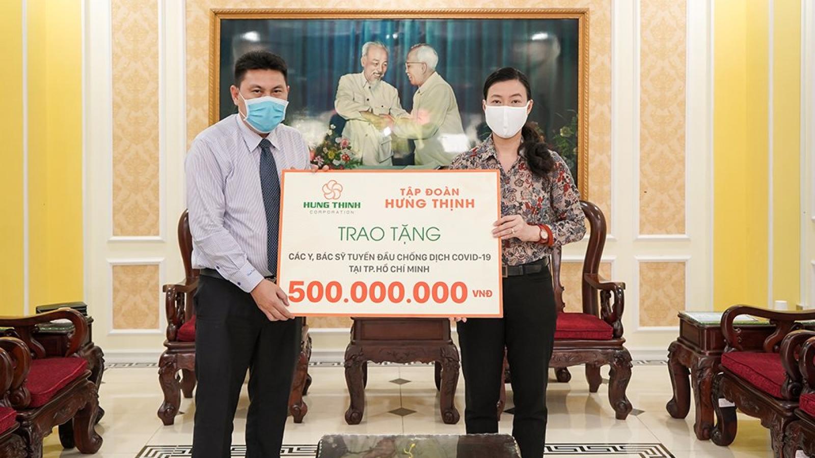 Tập đoàn Hưng Thịnh tiếp tục trích 20 tỷ đồng ủng hộ phòng, chống Covid-19