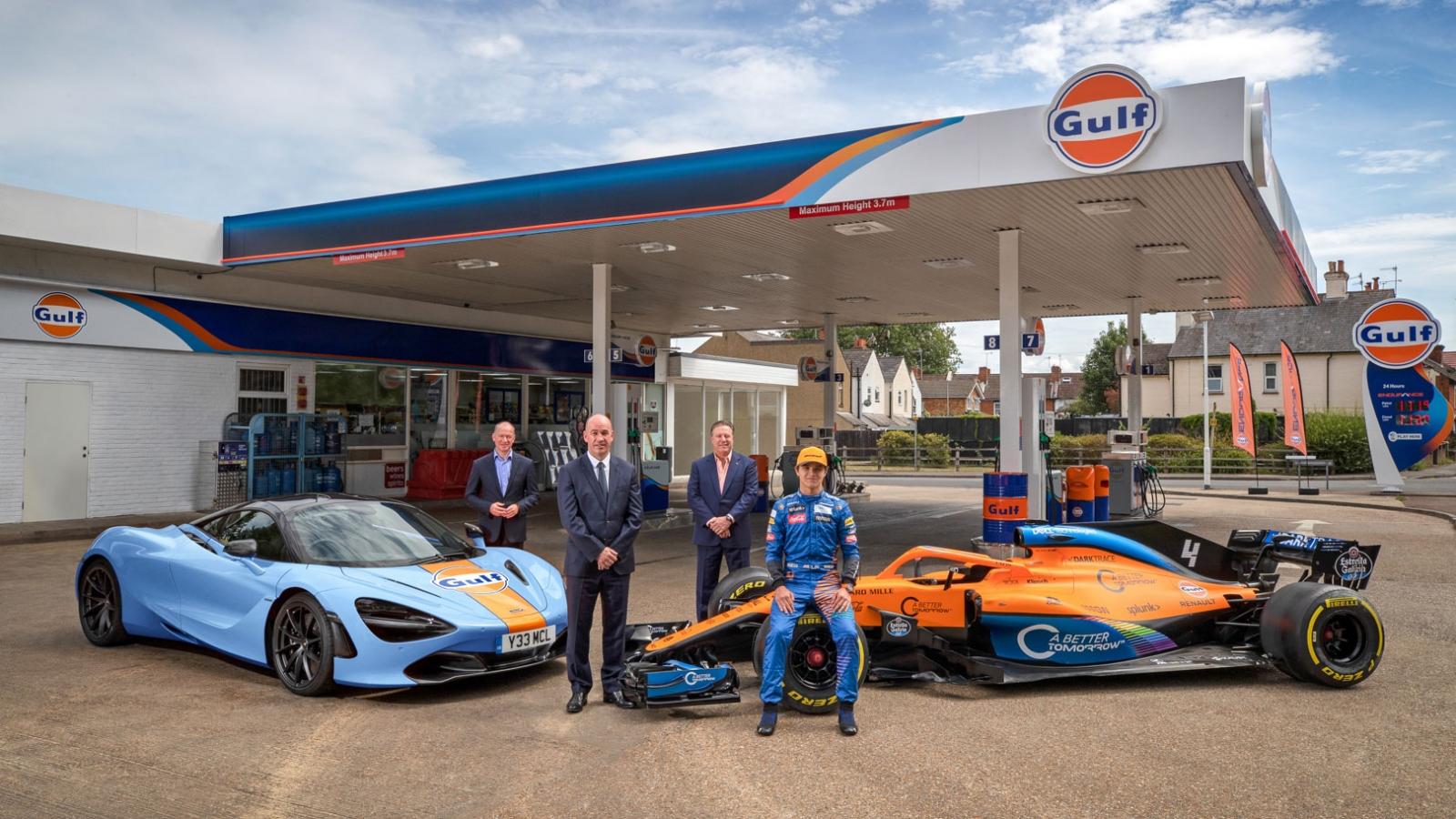 """McLaren và thương hiệu dầu Gulf """"bắt tay"""" trở lại"""