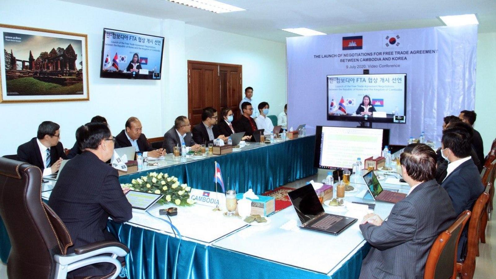 Campuchia – Hàn Quốc khởi động đàm phán Hiệp định thương mại tự do