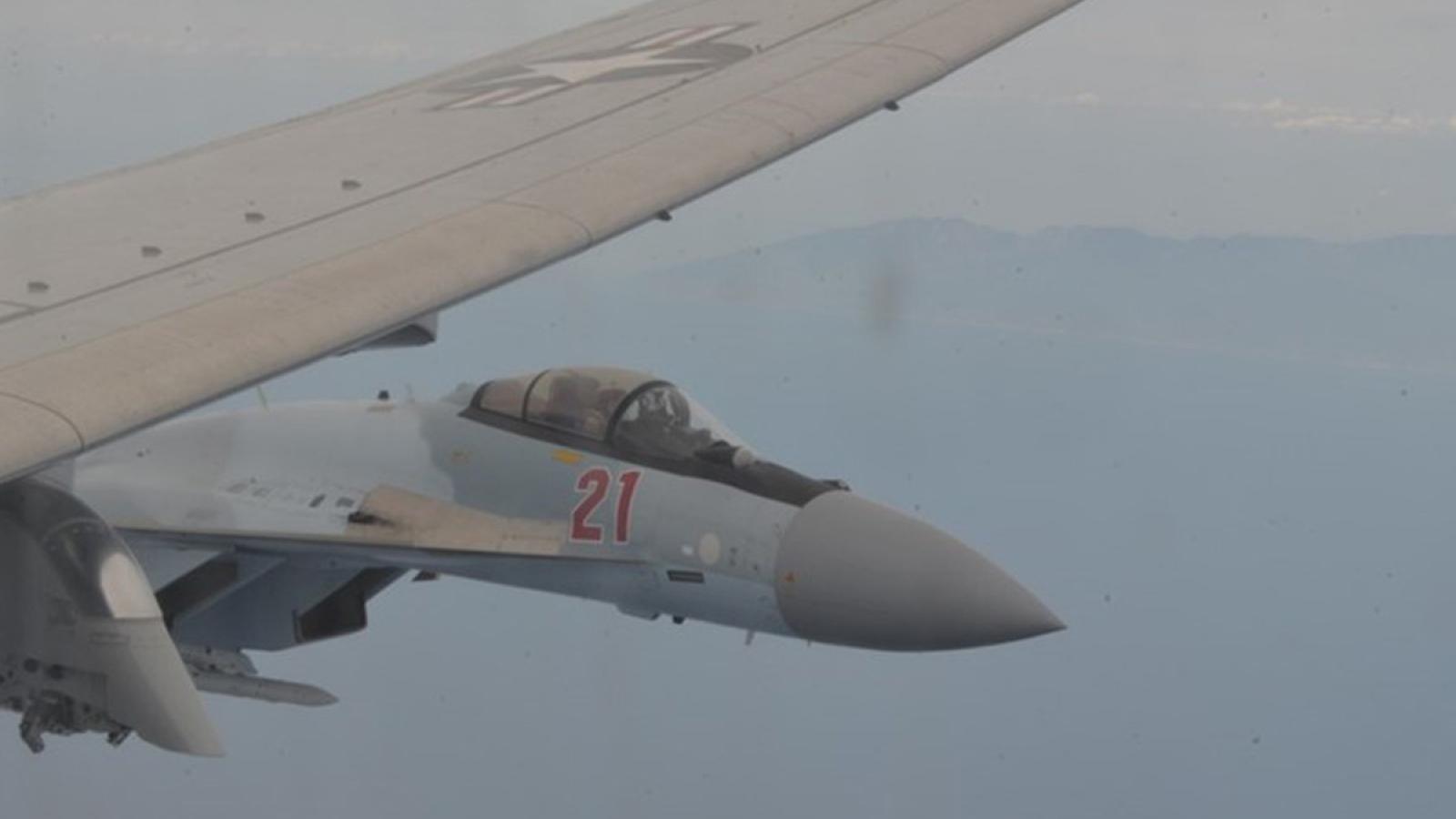 Mỹ tố Su-35 của Nga gây nguy hiểm cho trinh sát cơ Mỹ ở Địa Trung Hải