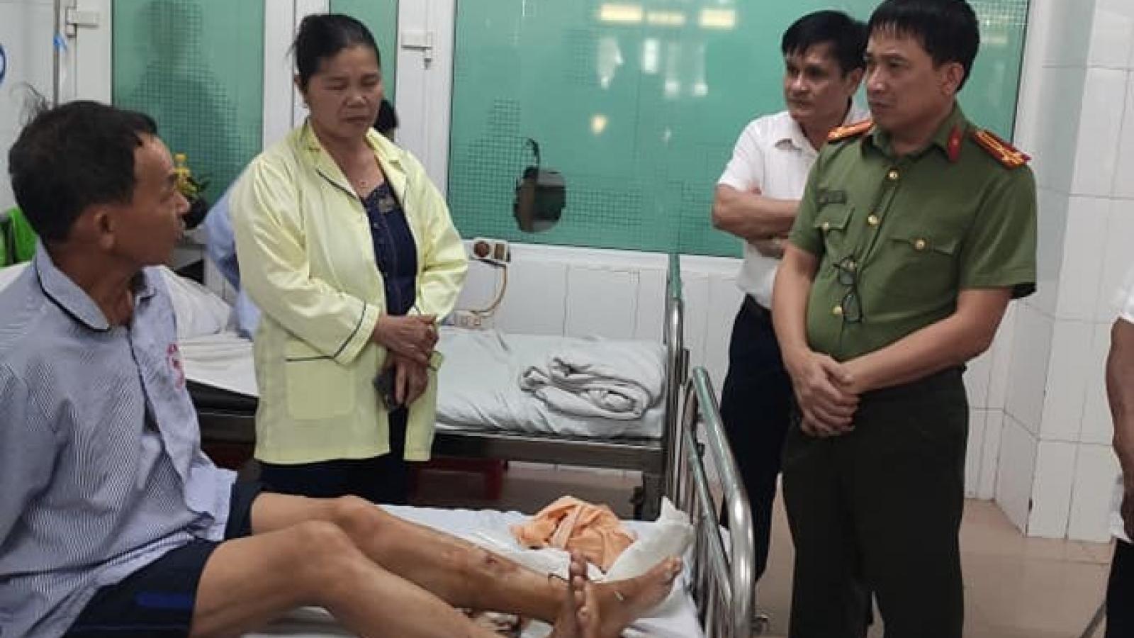 Bắt khẩn cấp đối tượng chém trong thương công an viên ở Hà Tĩnh
