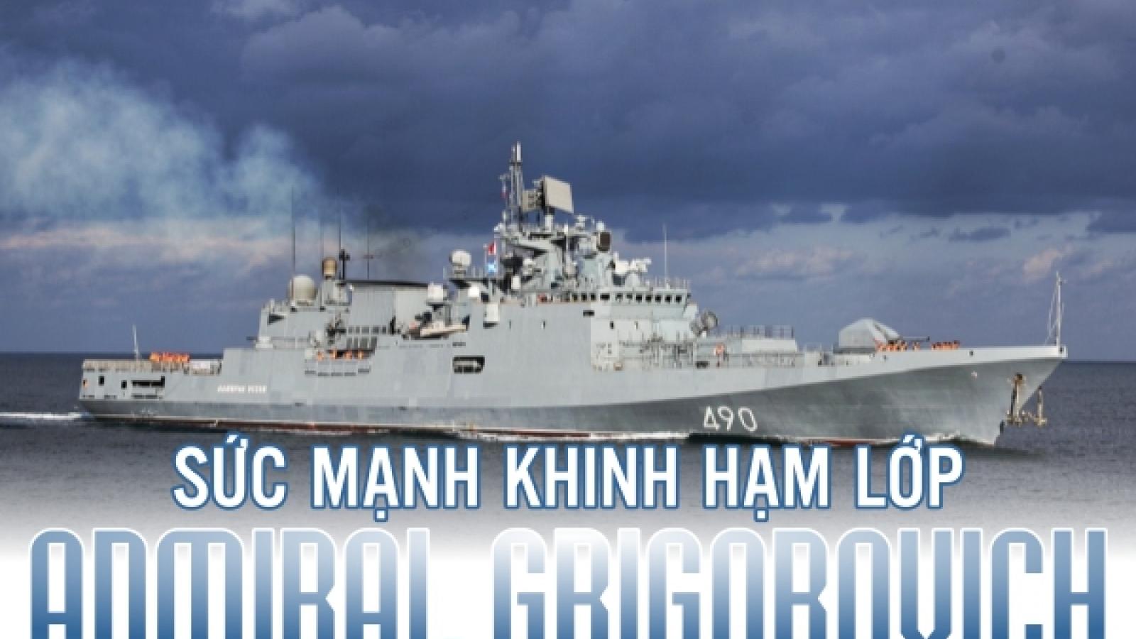 Infographic: Sức mạnh khinh hạm của hải quân Nga bị cách ly khi về từ Syria