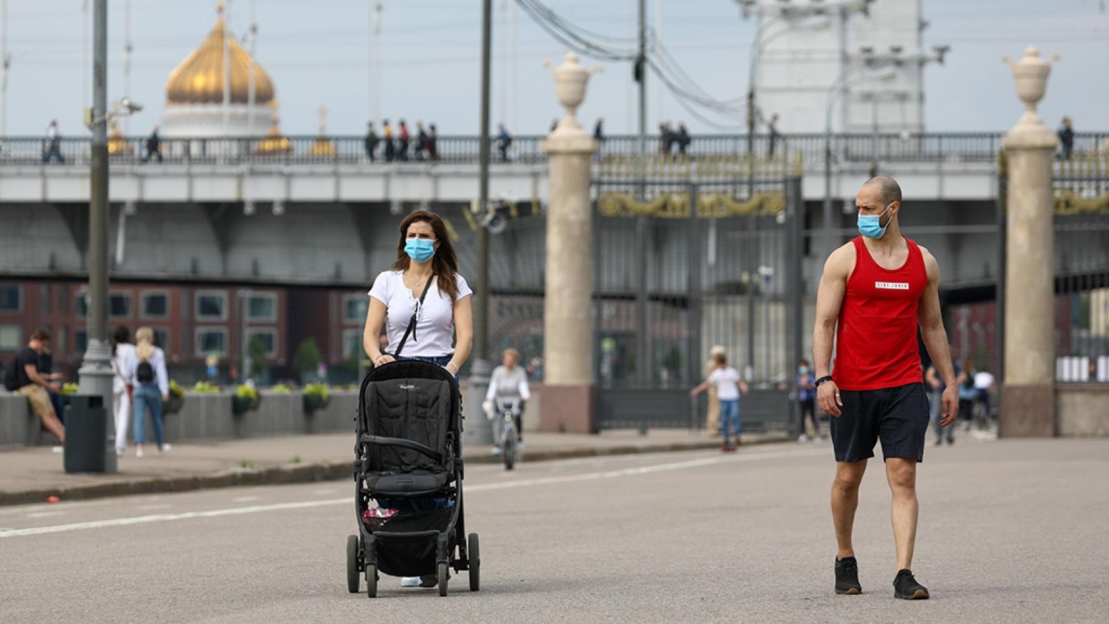 Moscow (Nga) đang trở lại nhịp sống bình thường
