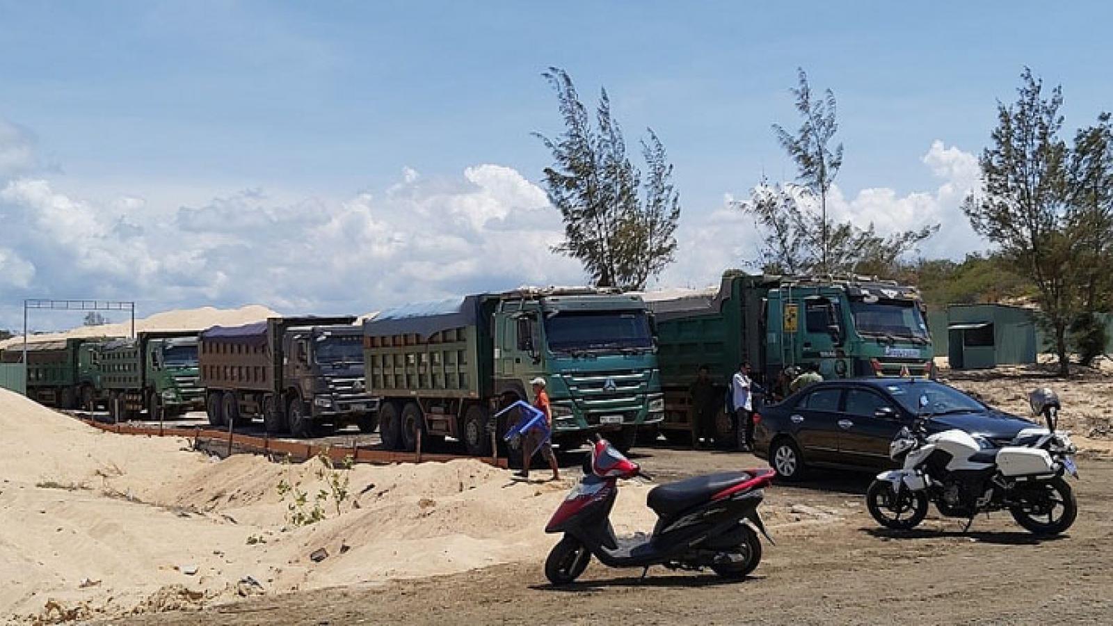 Tịch thu nhiều phương tiện khai thác khoáng sản trái phép