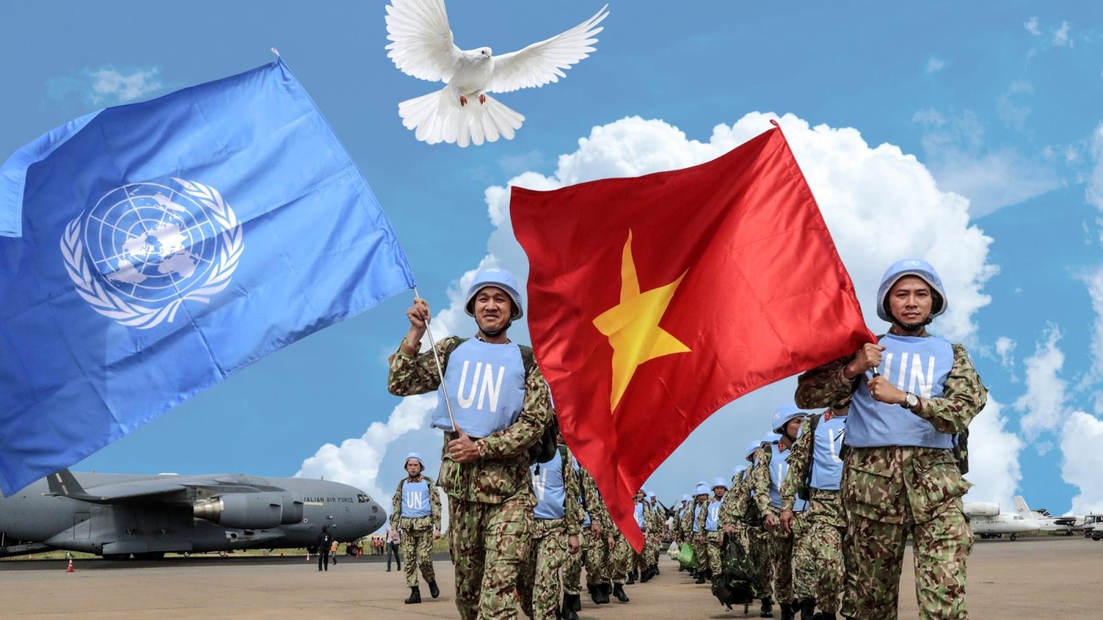 """Lính """"mũ nồi xanh"""" Việt Nam sẵn sàng với sứ mệnh ở châu Phi"""
