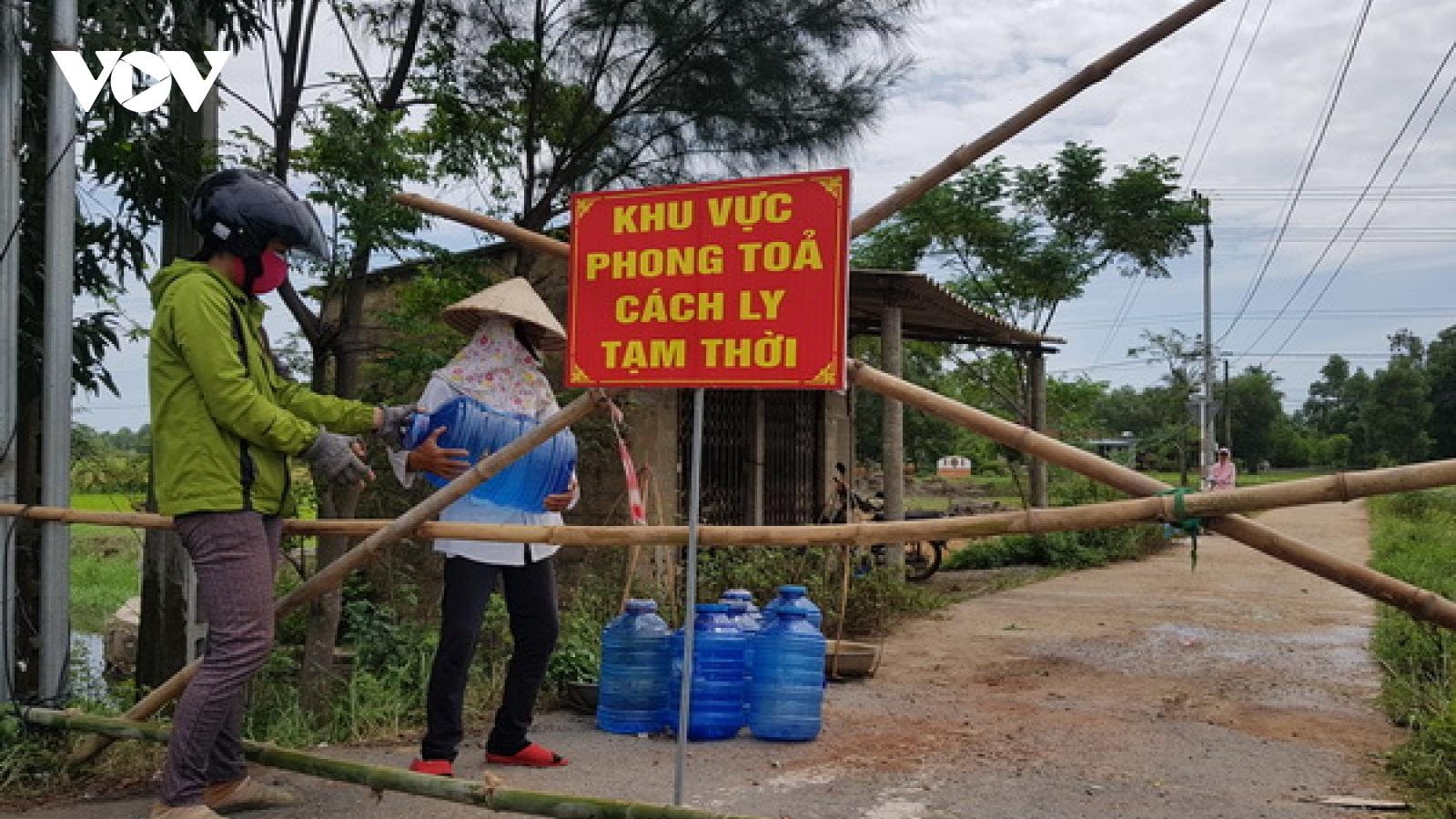 Quảng Trị dỡ bỏ phong tỏa thêm 2 khu dân cư và 1 trung tâm y tế huyện