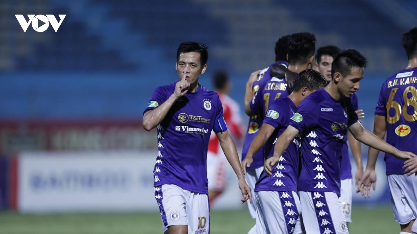"""Thắng """"5 sao"""" trước TPHCM, Hà Nội FC tiến bước vào chung kết Cúp Quốc gia"""