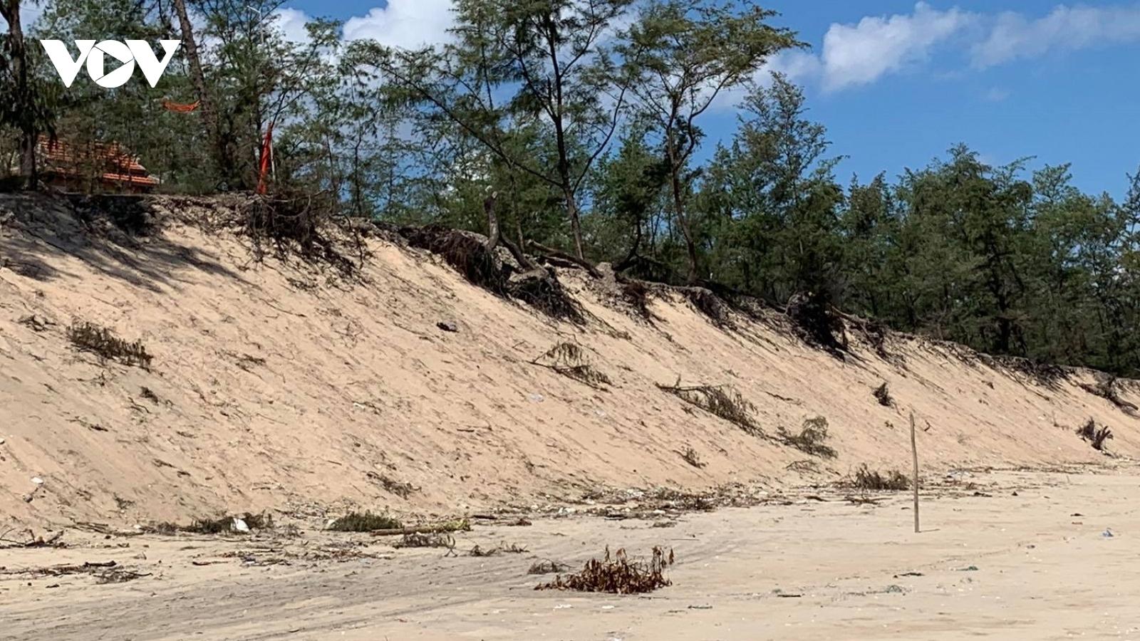 Tiếp tục sạt lở bờ biển nghiêm trọng ở Thừa Thiên Huế