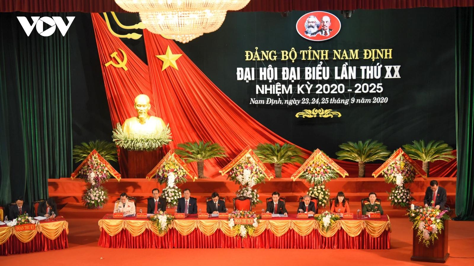 Khai mạc Đại hội đại biểu Đảng bộ tỉnh Nam Định nhiệm kỳ 2020-2025