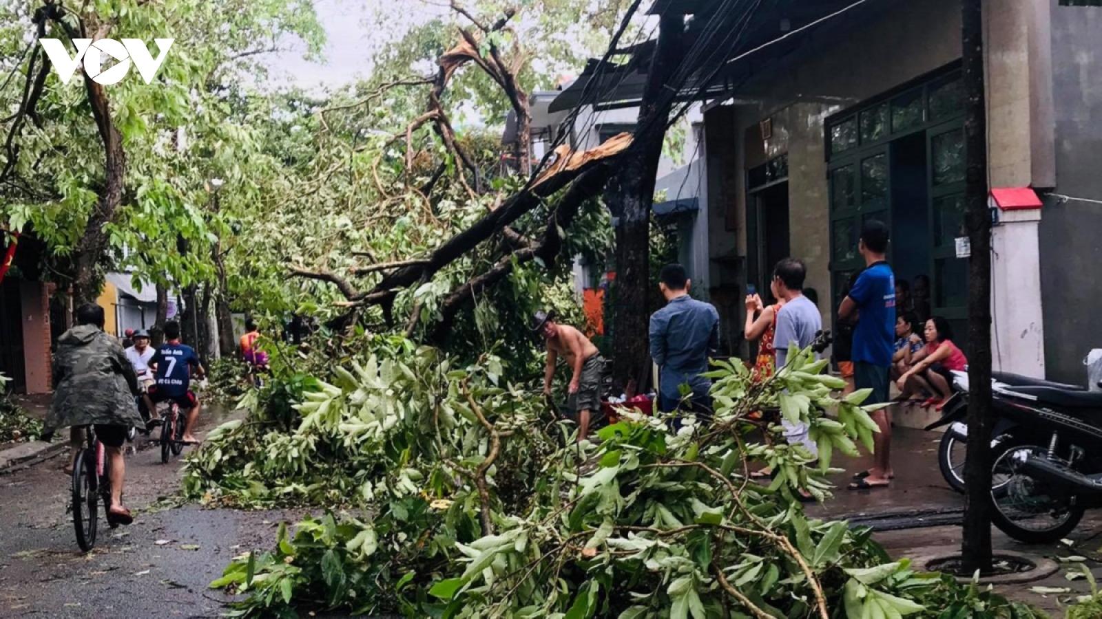 Bão số 5 gây thiệt hại nặng ở các tỉnh miền Trung