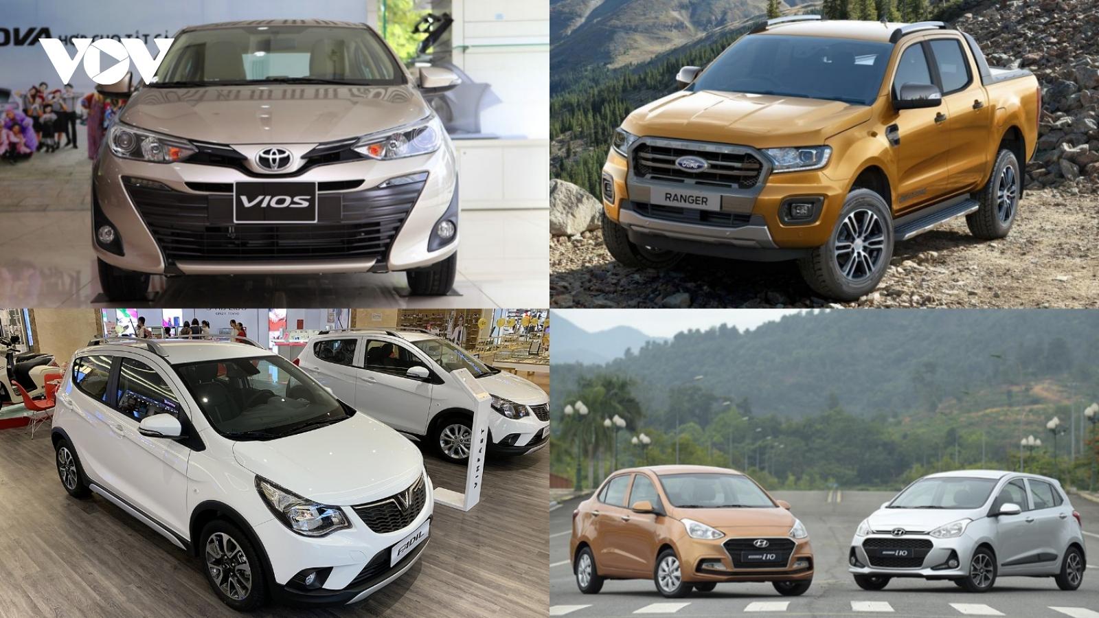 Top 10 mẫu xe bán chạy nhất thị trường Việt Nam tháng 11/2020