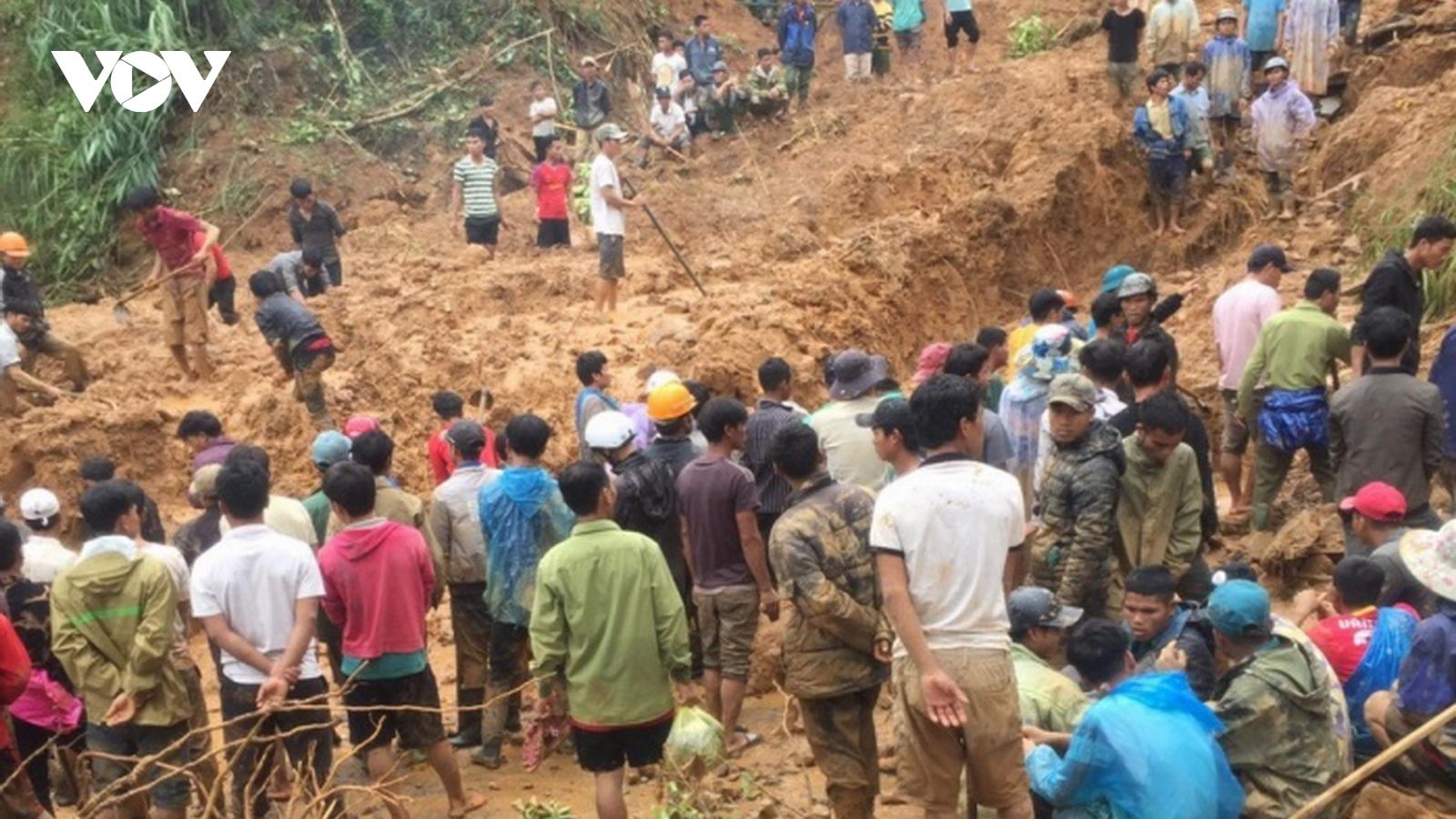 6 người Vân Kiều trong gia đình ở Quảng Trị bị vùi lấp