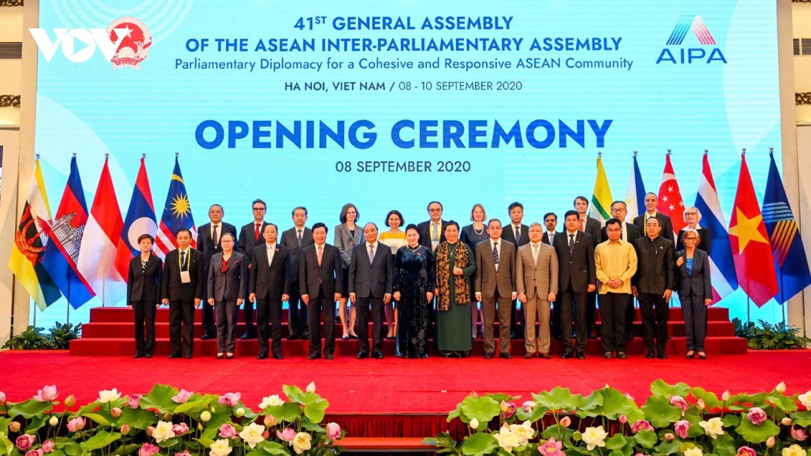 Chủ tịch Quốc hội các nước gửi thư chúc mừng Quốc hội Việt Nam tổ chức thành công AIPA-41