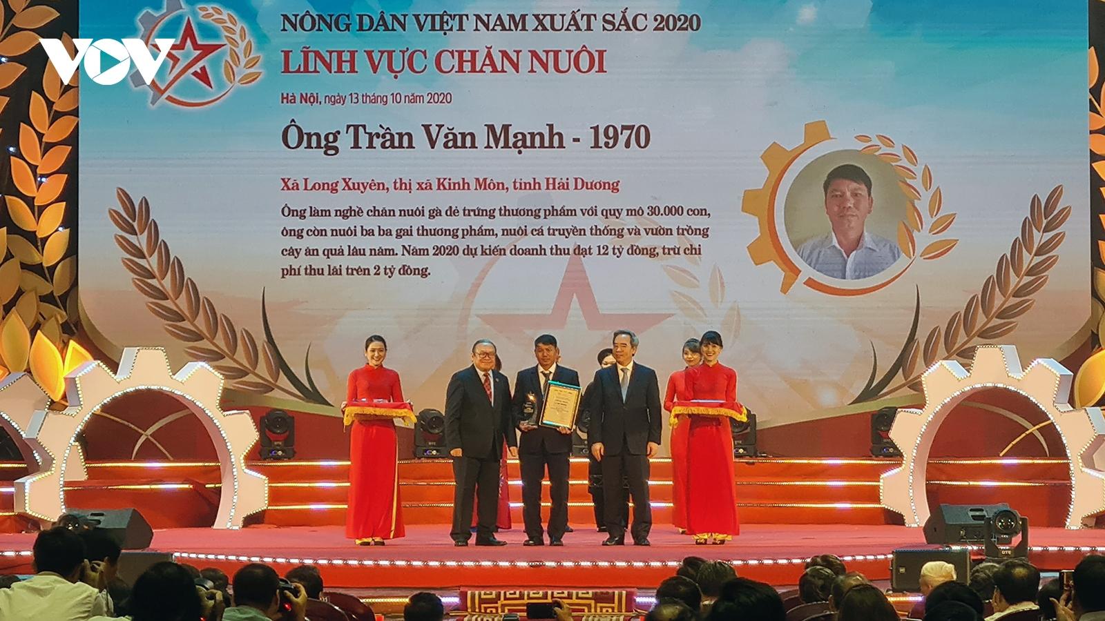 Tôn vinh 63 nông dân Việt Nam xuất sắc năm 2020