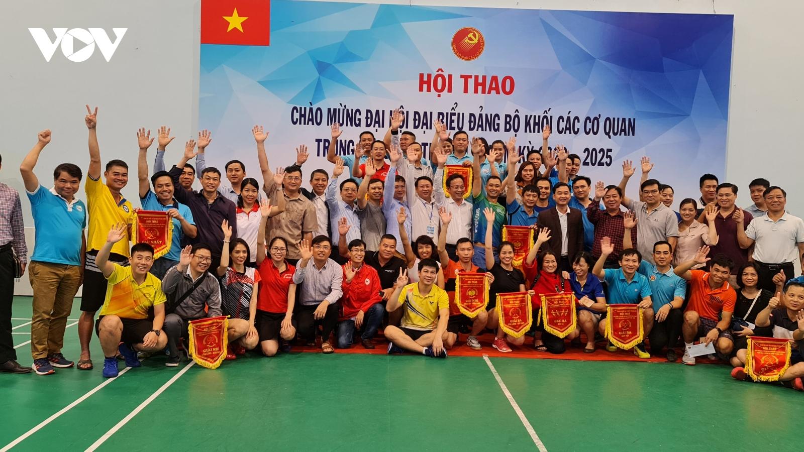 Bế mạc Hội thao chào mừng Đại hội Đảng bộ Khối lần thứ XIII, nhiệm kỳ 2020-2025