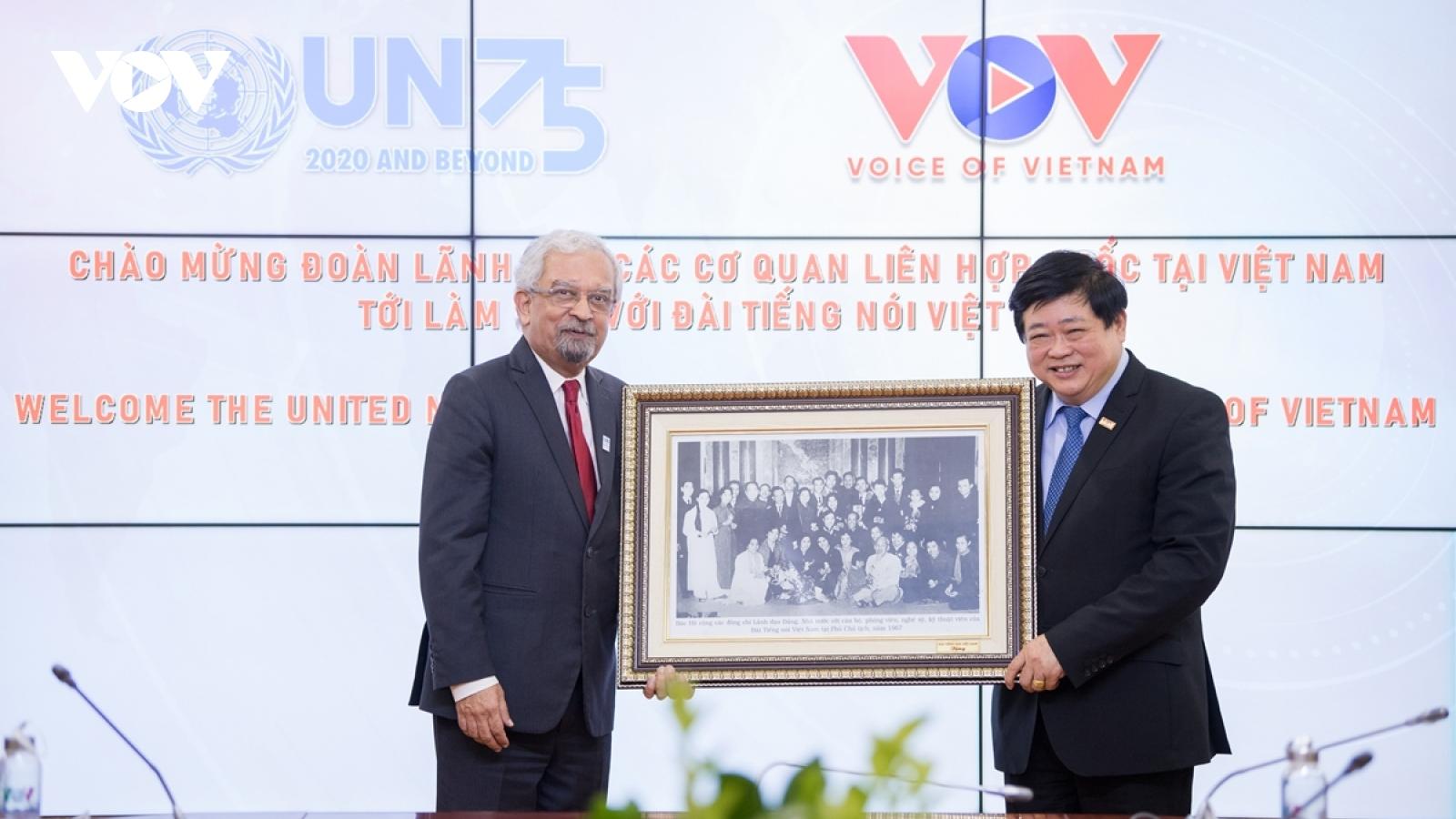 VOV bàn cơ hội hợp tác với các cơ quan Liên Hợp Quốc tại Việt Nam