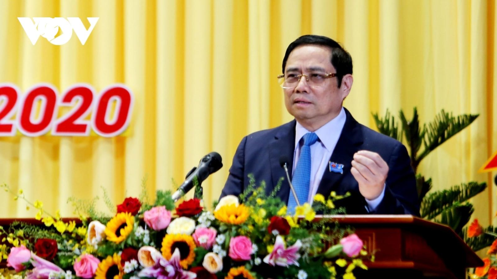Ông Phạm Minh Chính dự và chỉ đạo Đại hội Đảng bộ tỉnh Sóc Trăng