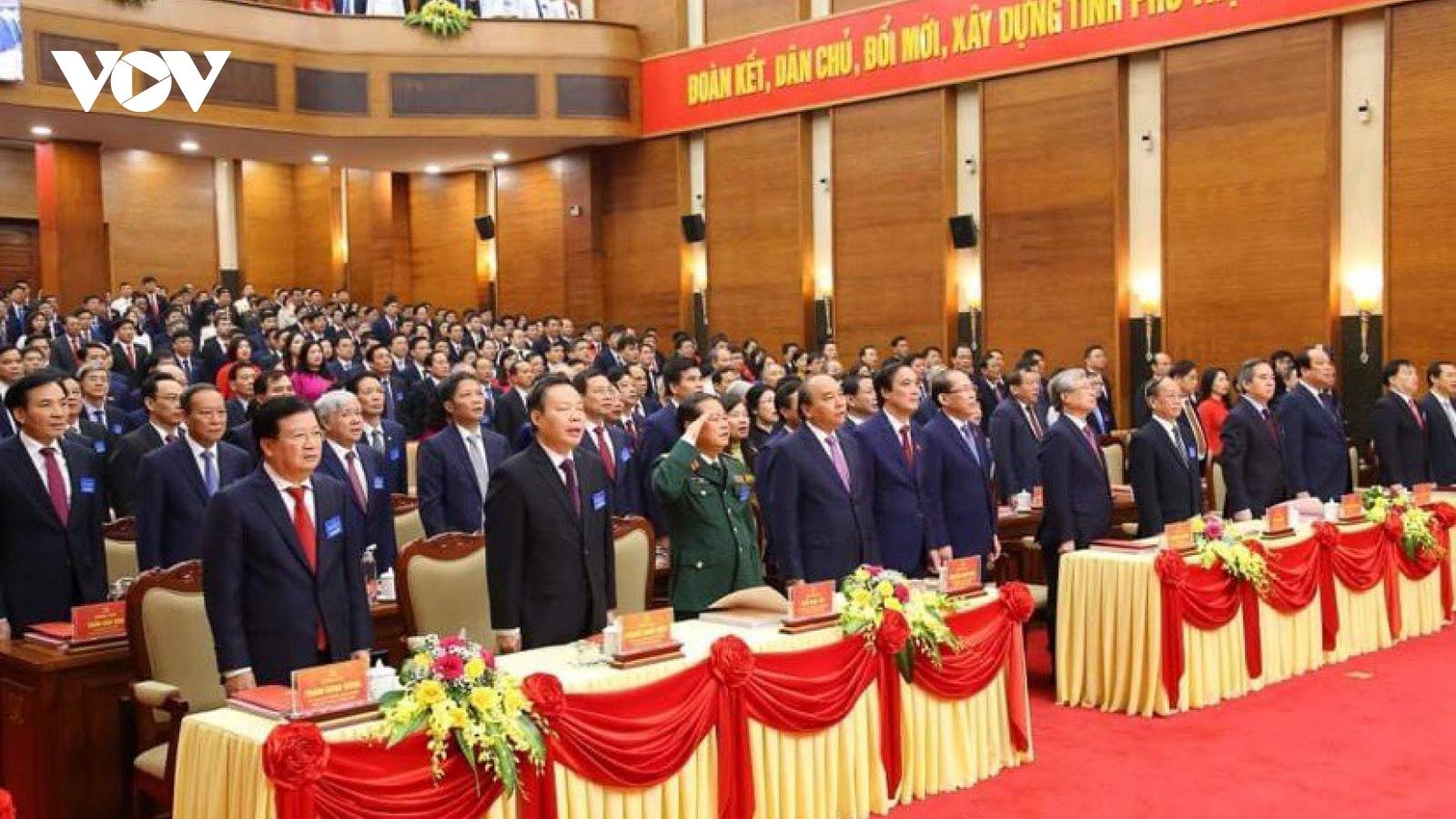 Thủ tướng dự Đại hội đại biểu Đảng bộ tỉnh Phú Thọ lần thứ XIX