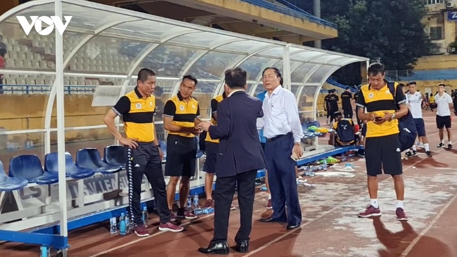 Hà Nội FC hòa Thanh Hóa, bầu Hiển nói điều bất ngờ với bầu Đệ