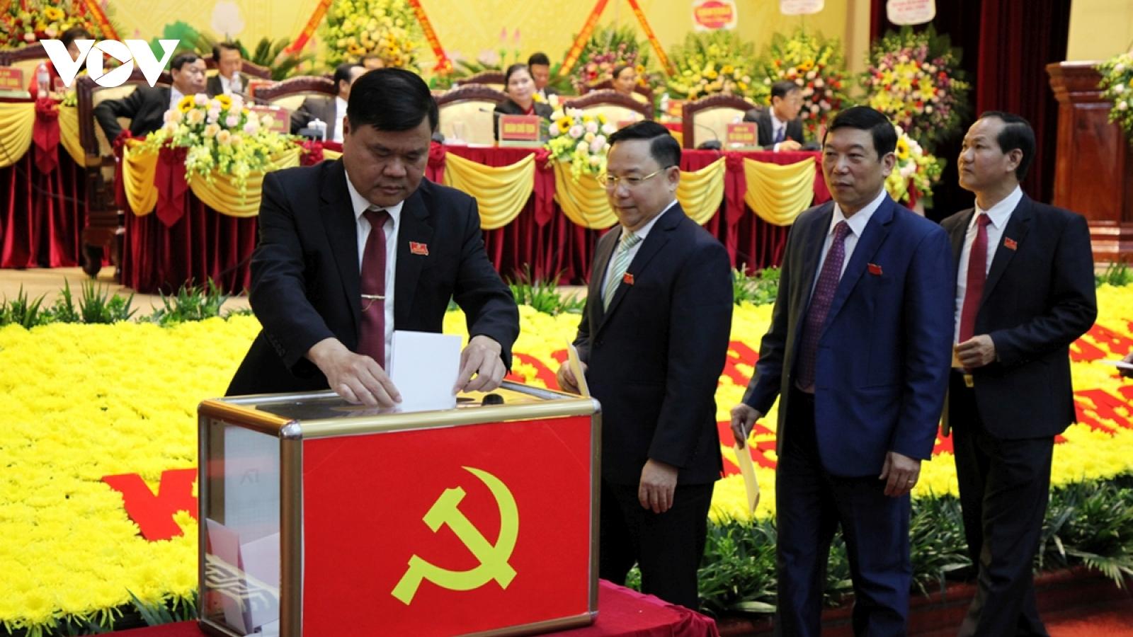 Đại hội Đảng bộ tỉnh Lai Châu bầu 47 đại biểu vào Ban Chấp hành khoá mới