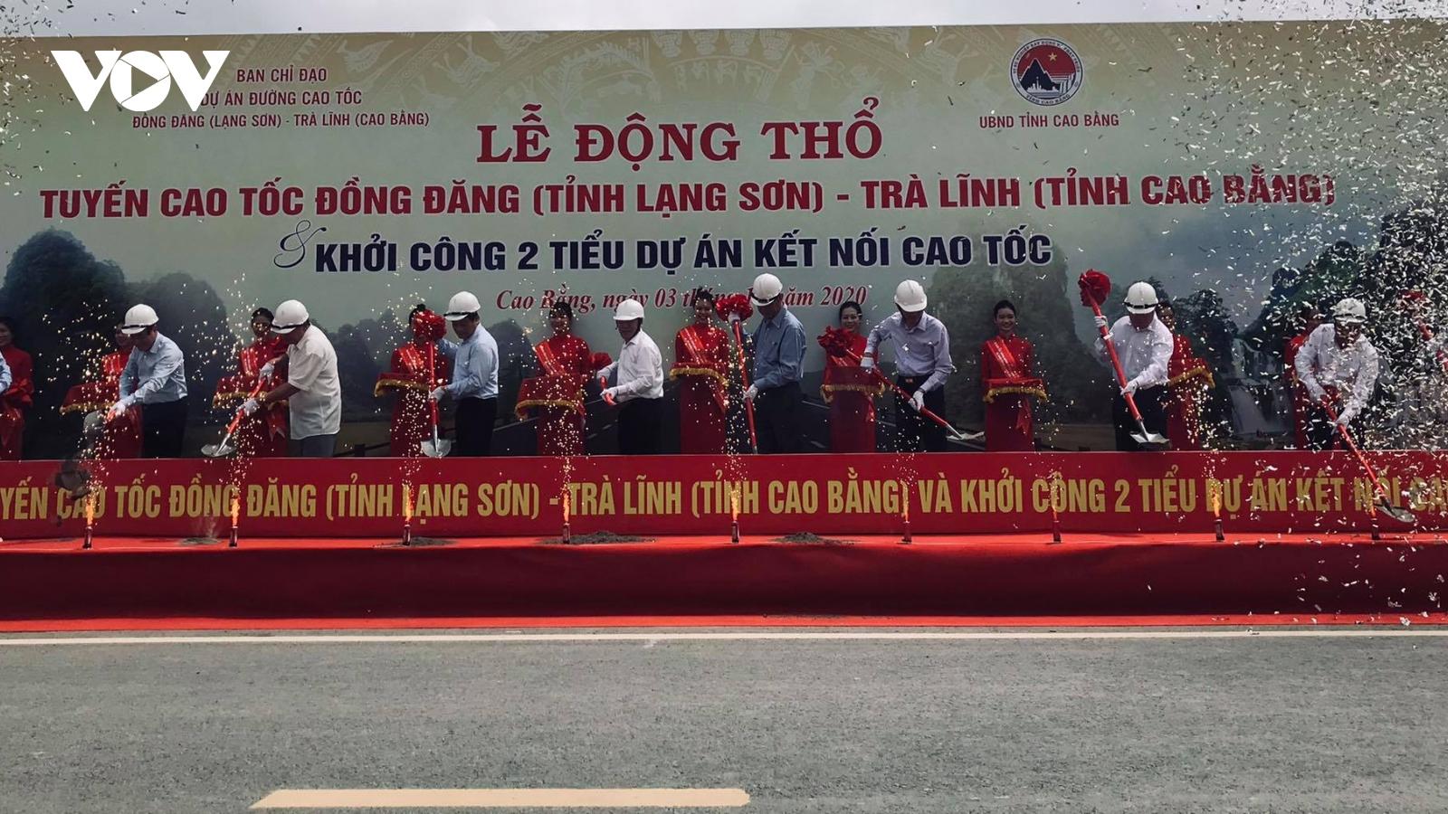 Chính thức động thổ tuyến cao tốc Đồng Đăng (Lạng Sơn) - Trà Lĩnh (Cao Bằng)