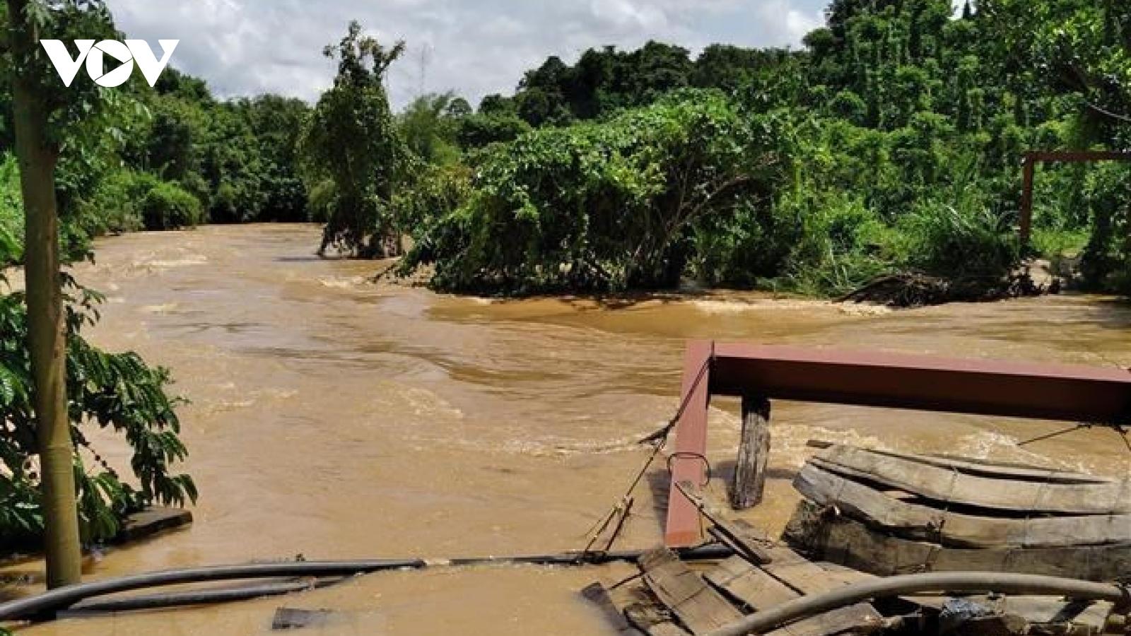Mưa lũ gây sạt lở ngập lụt tại huyện Krông Nô, Đăk Nông