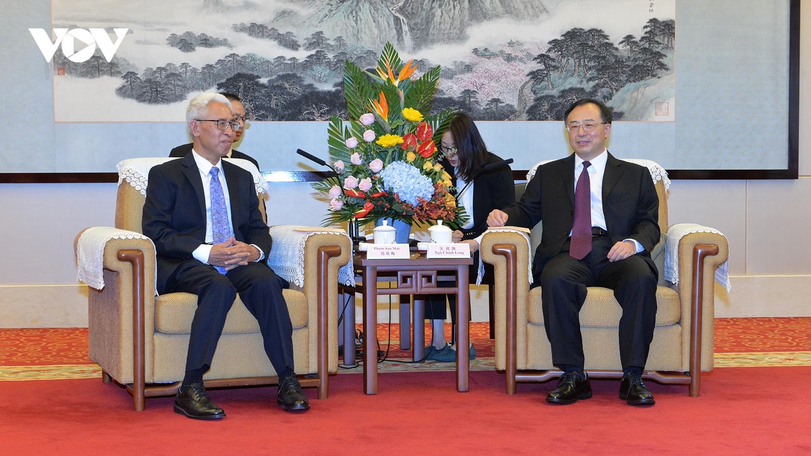 Tăng cường hợp tác cùng có lợi giữa các địa phương Việt Nam và tỉnh Giang Tô, Trung Quốc
