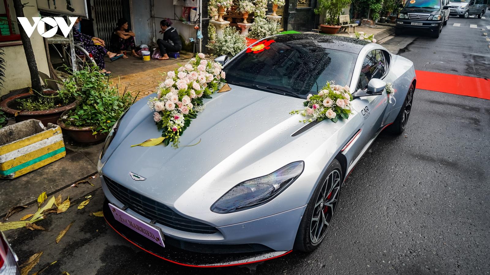 Cận cảnh Aston Martin DB11 đầu tiên về Việt Nam làm xe rước dâu
