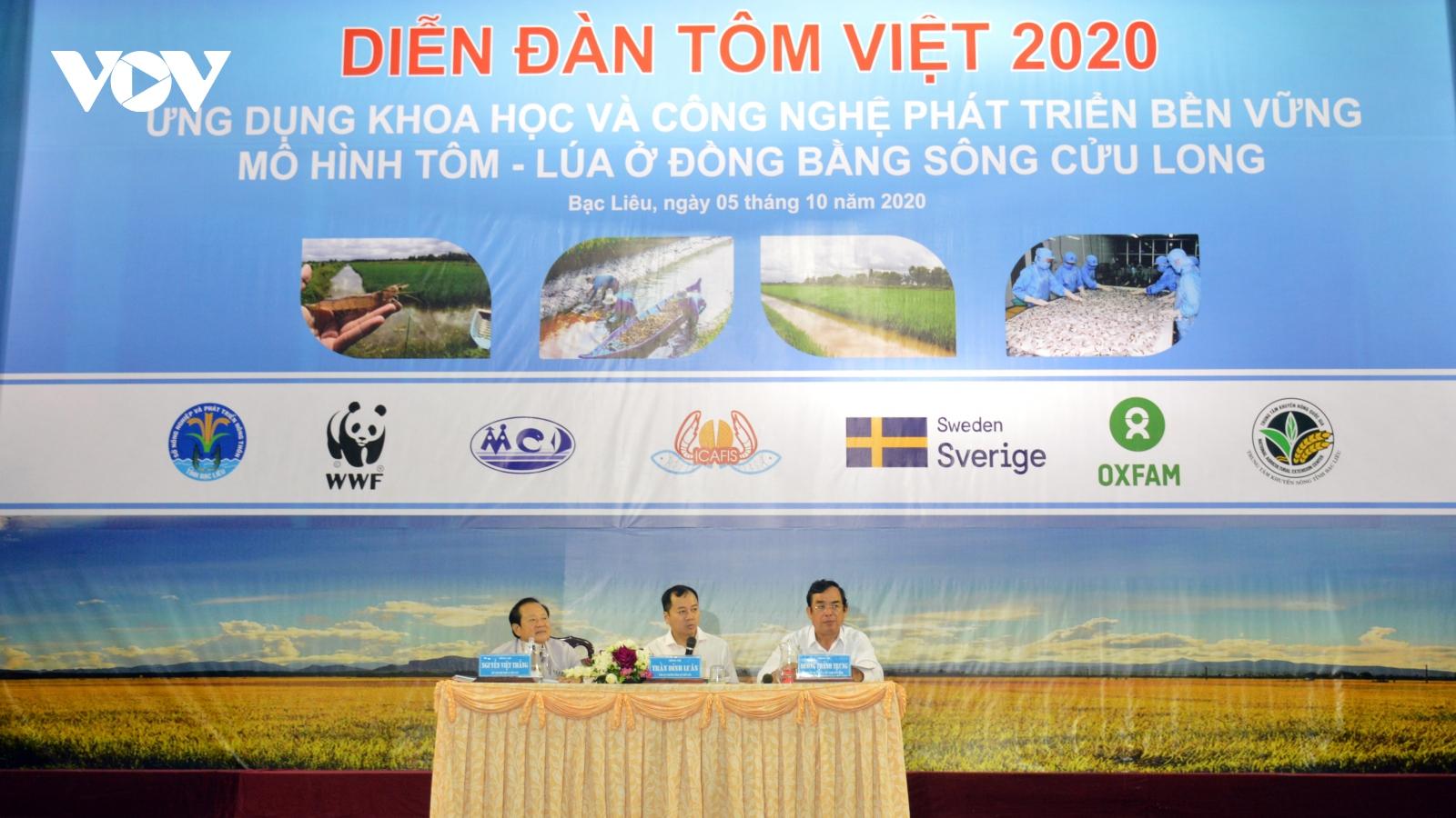Mô hình tôm lúa mang lại thu nhập cao, trung bình đạt 60-70 triệu đồng/ha/năm
